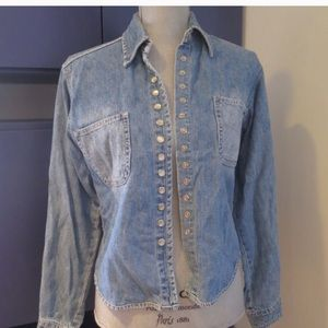 Urban outfitters light jean jacket snaps up